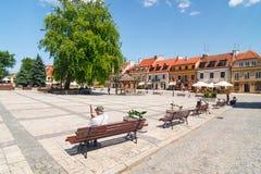 Sandomierz, Oude Stad Stock Fotografie