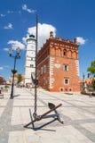 Sandomierz, Oude Stad Stock Foto