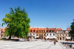 Sandomierz, Oude Stad Stock Afbeelding