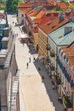 Sandomierz, Polônia - 23 de maio: Panorama da cidade velha histórica, que é uma atração turística principal 23 DE MAIO DE 2014 Sa Fotografia de Stock
