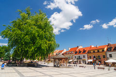 Sandomierz, Polônia, o 23 de maio de 2014 Imagem de Stock