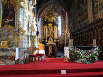 SANDOMIERZ, POLAND 16 October, 2015 .: The interior of the cathe Royalty Free Stock Images