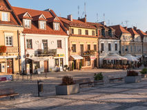SANDOMIERZ, POLAND - OCTOBER 16:Part of old town on october 16, Royalty Free Stock Photo
