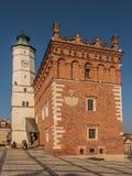 SANDOMIERZ POLEN - OKTOBER 16: Del av den gamla staden på oktober 16, Fotografering för Bildbyråer
