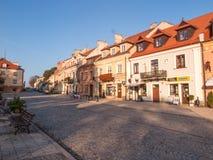 SANDOMIERZ POLEN - OKTOBER 16: Del av den gamla staden på oktober 16, Arkivfoto