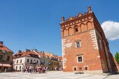 Sandomierz, Polonia - 23 de mayo de 2014 Foto de archivo libre de regalías
