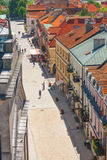 Sandomierz, Polonia - 23 de mayo: Panorama de la ciudad vieja histórica, que es una atracción turística importante 23 DE MAYO DE  Fotografía de archivo