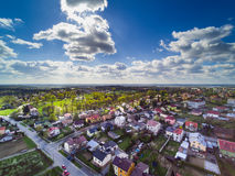 Sandomierz suburbs Stock Images