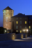 Sandomierz Tower - Wawel Hill - Krakow - Poland. The Ssndomierz Tower at the Royal Castle on Wawel Hill in the city of Krakow in Poland Stock Image