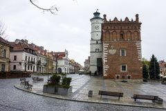 Sandomierz Town Hall, Poland Stock Images