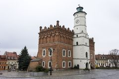 Sandomierz Town Hall, Poland Stock Image