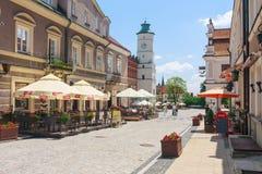 Sandomierz, vieille ville Photos libres de droits