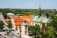 Sandomierz zna dla swój Starego miasteczka który jest ważnym atrakcją turystyczną, MAJ 23, 2014 Sandomierz, Obrazy Royalty Free