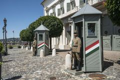 Sandor宫殿在布达佩斯 免版税图库摄影