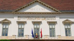 Sandor Palace, Budapest, Hungría imágenes de archivo libres de regalías