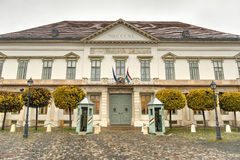 Sandor Palace, Office of the President of the Republic of Hungar Stock Image