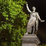 Sandor Petofi Statue in Boedapest stock foto's
