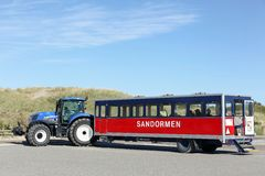The sandormen tractor in Grenen, Denmark Stock Photos