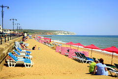 Sandown beach, Isle of Wight. Royalty Free Stock Photos