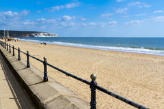 Sandown Esplanade Isle Of Wight. Sandown Esplanade and Beach on the Isle Of Wight England UK Europe Stock Photo