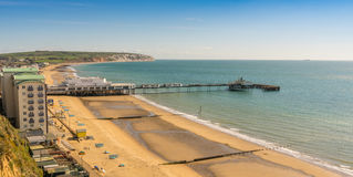 Sandown, Isle of Wight, England. Beach at Sandown, Isle of Wight, England Royalty Free Stock Photo