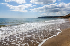 Sandown Isle Of Wight England UK. Sandown Beach on the Isle Of Wight England UK Europe stock photo