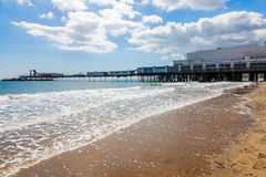 Sandown Isle Of Wight England UK. Sandown Beach on the Isle Of Wight England UK Europe Royalty Free Stock Photos