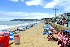 Sandown plaża Zdjęcia Stock