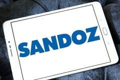 Sandoz pharmaceutical company logo. Logo of Sandoz company on samsung tablet. Sandoz is a global leader in generic and biosimilar medicines Royalty Free Stock Images