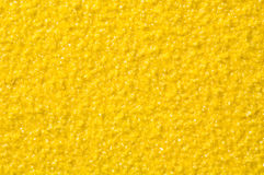 Sandpaper. Close up on yellow sandpaper to use as texture or background Royalty Free Stock Photo