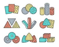 Free Sandpaper Sheets, Discs, Rolls, Triangles. Colorful Vector Illustration Of Sanding Abrasive Paper With Assorted Grit. Flat Line Royalty Free Stock Image - 159008476