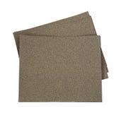 Sandpapier-Blätter heraus verbreitet Lizenzfreies Stockfoto