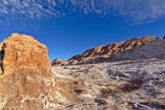 Sandpappra och vaggar, salt Arkivfoton
