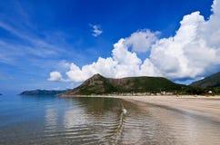 Sandpappra stranden på den Condao ön i Vung Tau, Vietnam Arkivfoto