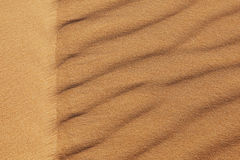 Sandpattern in the desert closeup. Closeup of sandpattern in the Sahara desert Stock Image