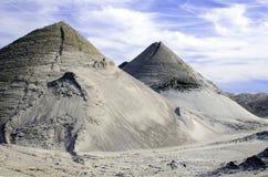 Sandpiles 免版税库存照片