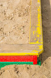 Sandpit close up Royalty Free Stock Images
