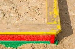 Sandpit close up Stock Photos