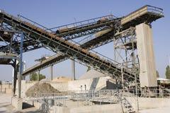 Sandpit construction. Steel constructions at a sandpit site Stock Photo