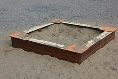 Sandpit cuadrado del ` s de los niños Fotografía de archivo