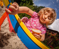 Sandpit fun Royalty Free Stock Photo