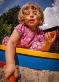 Sandpit fun Stock Photography