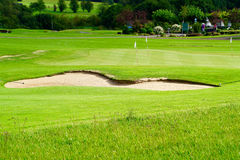 Sandpit of a golf course royalty free stock images