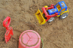 Sandpit in the playground Royalty Free Stock Photo