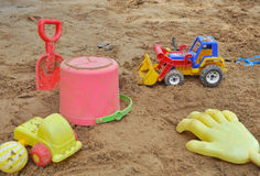 Sandpit in the playground Royalty Free Stock Images