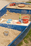 Sandpit in a rowboat Royalty Free Stock Images