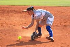 Sandra Bosdachin - softball Royaltyfri Foto