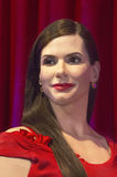 Sandra Bullock Waxed at 50. Film star Sandra Bullock's wax figure made its New York debut at Madame Tussauds for her 50th birthday. The unveiling took stock image