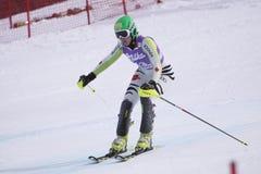 Sandrine Aubert - het alpiene ski?en Stock Afbeelding