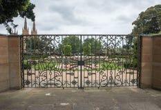 Sandringham纪念花园大门 库存照片